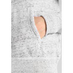 Abercrombie & Fitch LONG LIFE LOGO  Bluza rozpinana light grey. Szare kardigany damskie Abercrombie & Fitch, l, z bawełny. Za 369,00 zł.