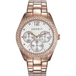 Zegarek kwarcowy w kolorze szaro-biało-różowozłotym. Żółte, analogowe zegarki damskie Esprit Watches, ze stali. W wyprzedaży za 363,95 zł.