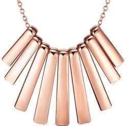 Naszyjniki damskie: Pozłacany naszyjnik z elementem ozdobnym – dł. 43 cm