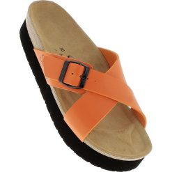 Chodaki damskie: Klapki w kolorze pomarańczowym
