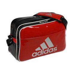 Torby podróżne: Torba sportowa w kolorze czarno-czerwonym – (S)46 x (W)32 x (G)19 cm