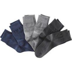Skarpetki męskie: Skarpetki (6 par), kolorowe bonprix czarny + ciemnoniebieski + ciemnoszary