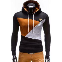 BLUZA MĘSKA Z KAPTUREM B342 - CZARNA. Czarne bluzy męskie rozpinane marki Ombre Clothing, m, z bawełny, z kapturem. Za 79,00 zł.