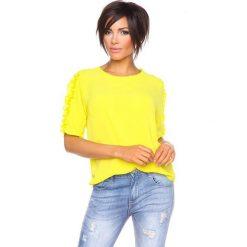 """T-shirty damskie: Koszulka """"Aline"""" w kolorze żółtym"""