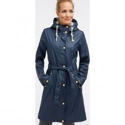 Płaszcz przeciwdeszczowy w kolorze granatowym. Niebieskie płaszcze damskie Schmuddelwedda, xs, w paski. W wyprzedaży za 347,95 zł.