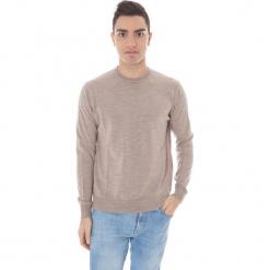 Sweter w kolorze beżowym. Brązowe swetry klasyczne męskie marki Just Cavalli, Calvin Klein, Lee, m, z okrągłym kołnierzem. W wyprzedaży za 319,95 zł.