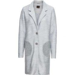 Płaszcz dzianinowy bonprix srebrny. Szare płaszcze damskie bonprix, z dzianiny. Za 169,99 zł.