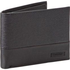 Portfele męskie: Duży Portfel Męski CALVIN KLEIN BLACK LABEL – Adam 5CC + Coin K50K503187  001