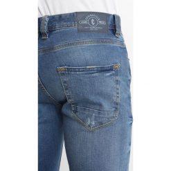 Springfield CLARO Jeansy Slim Fit darkblue denim. Niebieskie rurki męskie Springfield. Za 169,00 zł.