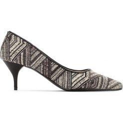 Buty ślubne damskie: Czółenka z etnicznym wzorem