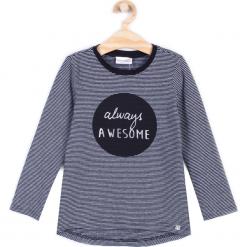 Koszulka. Szare bluzki dziewczęce bawełniane marki CHIC UNIQUE, z aplikacjami, z długim rękawem. Za 39,90 zł.