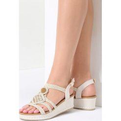 Sandały damskie: Beżowe Sandały See-Through