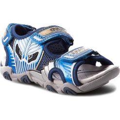 Sandały GEOX - J Sand. Strike B J7224B 0CE14 C0693 Morski/J. Niebieski. Niebieskie sandały męskie skórzane Geox. W wyprzedaży za 209,00 zł.