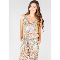 Kombinezony z printem: Kombinezon ze spodniami, z kwiecistym nadrukiem patchworkowym