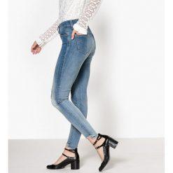 Dżinsy skinny. Szare jeansy damskie marki La Redoute Collections, m, z bawełny, z kapturem. Za 245,66 zł.