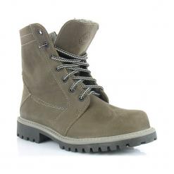 KULTOWE Fenomenalne Skórzane WORKER Boots. Czarne buty zimowe damskie Łukbut, z kauczuku, na wysokim obcasie. Za 219,00 zł.