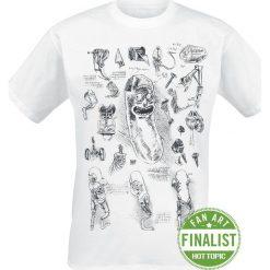 T-shirty męskie: Rick And Morty Da Vinci Pickle Rick T-Shirt biały
