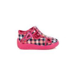 Różowe Tekstylne Buty Dla dzieci Reweks rozmiar 18. Czerwone buciki niemowlęce chłopięce REWEKS, na jesień. Za 64,89 zł.