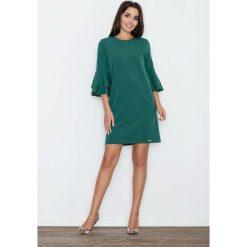 Zielona Elegancka Sukienka z Hiszpańskim Rękawem. Zielone sukienki balowe marki Reserved, z wiskozy. Za 149,90 zł.