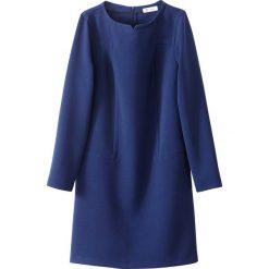 Długie sukienki: Sukienka z długim rękawem i suwakiem z tyłu