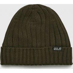Jack Wolfskin - Czapka. Brązowe czapki zimowe męskie Jack Wolfskin, z dzianiny. W wyprzedaży za 99,90 zł.