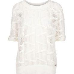 Swetry damskie: Sweter ażurowy, krótki rękaw