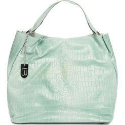 Torebki klasyczne damskie: Skórzana torebka w kolorze turkusowym – 50 x 28 x 15 cm