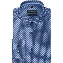 Koszula Michele KDWE000332. Szare koszule męskie na spinki Giacomo Conti, m, w kwiaty, z bawełny, button down. Za 259,00 zł.
