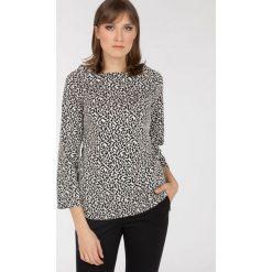 Bluzy rozpinane damskie: Bluza w drobny wzór