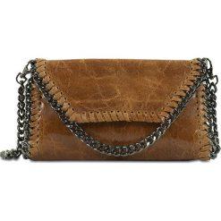 """Torebki klasyczne damskie: Skórzana torebka """"Paige"""" w kolorze brązowym – 25 x 14 x 1 cm"""