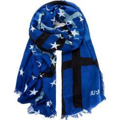 Szal LIU JO - Scarpa Check/Stelle N67265 T0300 Royal 93939. Niebieskie szaliki damskie marki Liu Jo, z materiału. W wyprzedaży za 219,00 zł.
