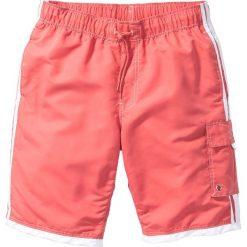 Bermudy plażowe Regular Fit bonprix jasnoczerwony. Czerwone bermudy męskie bonprix, z nadrukiem. Za 54,99 zł.