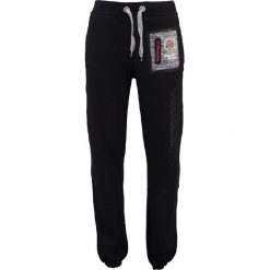 """Spodnie dresowe """"Mitor"""" w kolorze czarnym. Czarne joggery męskie marki Geographical Norway, z aplikacjami, z dresówki. W wyprzedaży za 117,95 zł."""