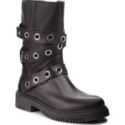 Kozaki NESSI - 18420 Czarny 1. Czarne buty zimowe damskie marki Kazar, ze skóry, na wysokim obcasie. Za 408,00 zł.