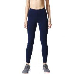 Adidas Legginsy Sportowe Ess Linear Tight Collegiate Navy/White Xl. Białe legginsy damskie do biegania marki Adidas, s, ze skóry. W wyprzedaży za 89,00 zł.