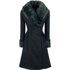 Hell Bunny Rock Noir Coat Płaszcz damski czarny/zielony. Czarne płaszcze damskie pastelowe Hell Bunny, l, rockowe. Za 691,90 zł.