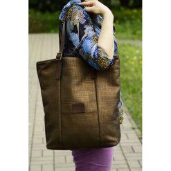 Shopper bag damskie: Shopper Brown&Gold