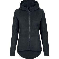 Bluzy polarowe: Urban Classics Ladies Polar Fleece Zip Hoodie Bluza z kapturem rozpinana damska czarny