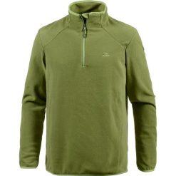 Bluza polarowa w kolorze granatowym. Brązowe bejsbolówki męskie OCK, m, z polaru. W wyprzedaży za 43,95 zł.
