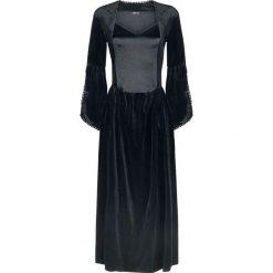 Jawbreaker Velvet & Satin Maiden Dress Sukienka czarny. Czarne sukienki koronkowe Jawbreaker, na imprezę, xl, w koronkowe wzory. Za 304,90 zł.