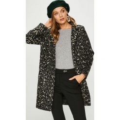 Answear - Płaszcz Animal me. Czarne płaszcze damskie pastelowe ANSWEAR, l, z poliesteru, klasyczne. W wyprzedaży za 219,90 zł.