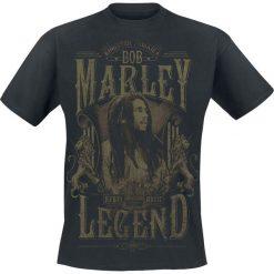 T-shirty męskie z nadrukiem: Bob Marley Rebel Legend T-Shirt czarny