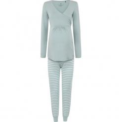 2-częściowa piżama w kolorze miętowym do karmienia. Zielone piżamy damskie bellybutton, xs, w paski, moda ciążowa, z długim rękawem. W wyprzedaży za 217,95 zł.
