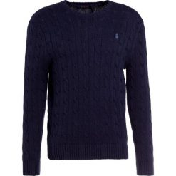 Polo Ralph Lauren CABLE Sweter worth navy heather. Niebieskie kardigany męskie marki Polo Ralph Lauren, m, z bawełny, polo. W wyprzedaży za 382,85 zł.