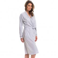 Szlafrok w kolorze szarym. Szare szlafroki kimona damskie Doctor Nap, l, w paski, z tkaniny. W wyprzedaży za 84,95 zł.