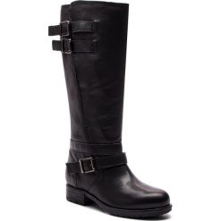 Oficerki CLARKS - Adelia Dusk 261379664 Black Leather. Czarne buty zimowe damskie Clarks, z materiału, na obcasie. W wyprzedaży za 679,00 zł.