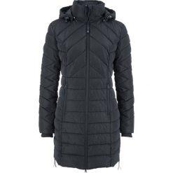 Bomberki damskie: Długa kurtka pikowana, ocieplana bonprix czarny