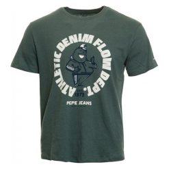 Pepe Jeans T-Shirt Męski Beebe M Ciemnoszary. Szare t-shirty męskie Pepe Jeans, m, z jeansu. Za 195,00 zł.