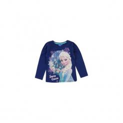 Bluzka dziewczęca z printem Kraina Lodu - Frozen. Niebieskie bluzki dziewczęce TXM, z motywem z bajki. Za 19,99 zł.