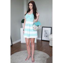 Sukienki: Sukienka MINI z ozdobną kokardą z przodu turkusowa